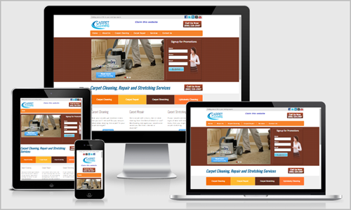 carpet cleaning website design Pineville, NC